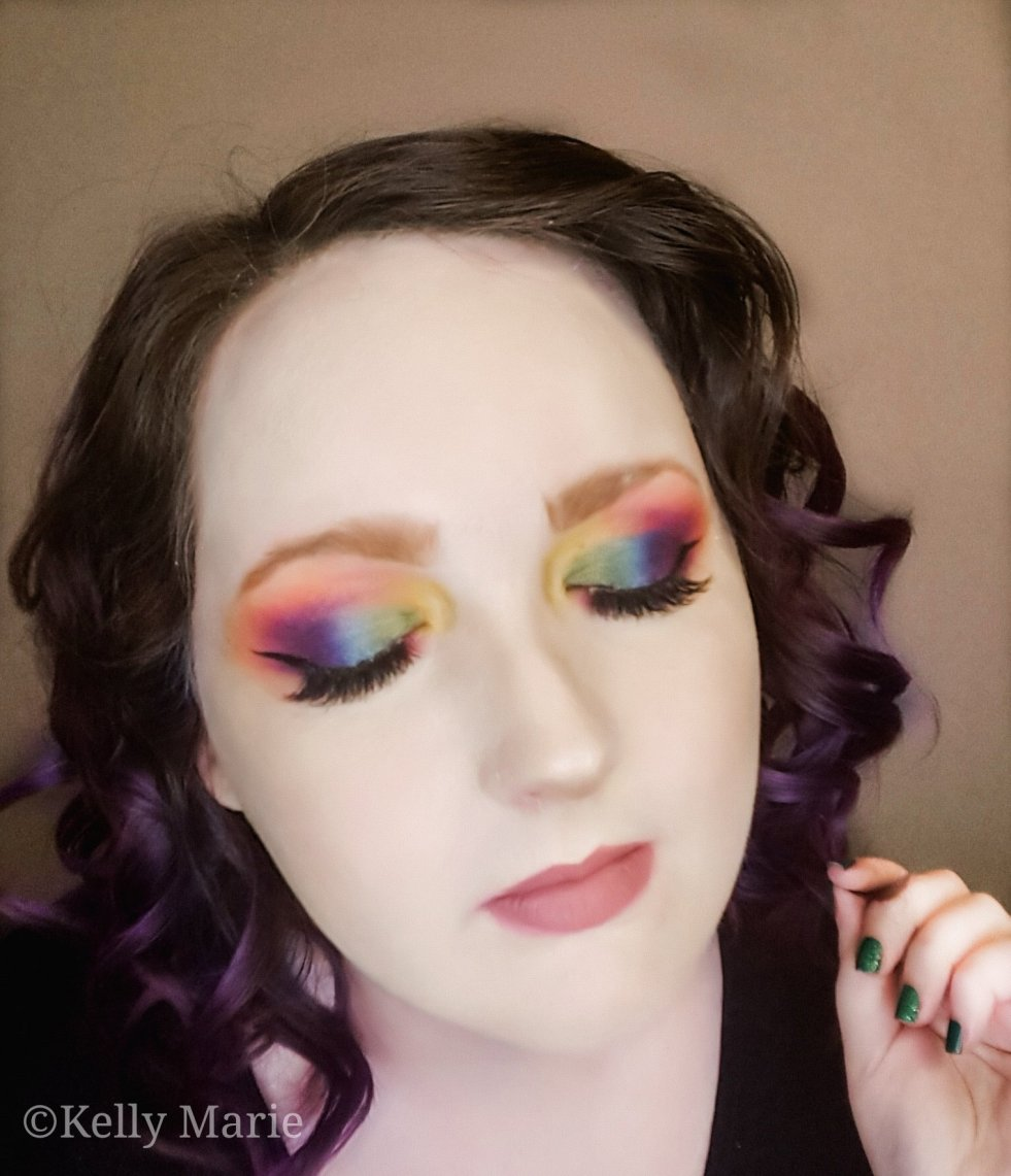 My Review Of The Morphe X James Charles Palette Rainbow Eyes Tutorial Kelly Marie